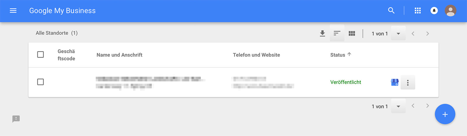 Google Firmeneintrag Übersicht
